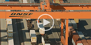 BNSF's intermodal cranes in action.