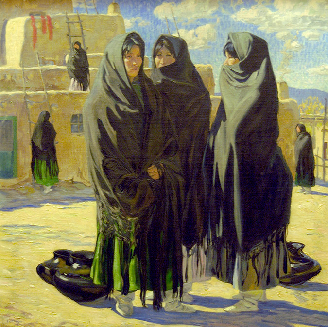 Taos Girls by Walter Ufer