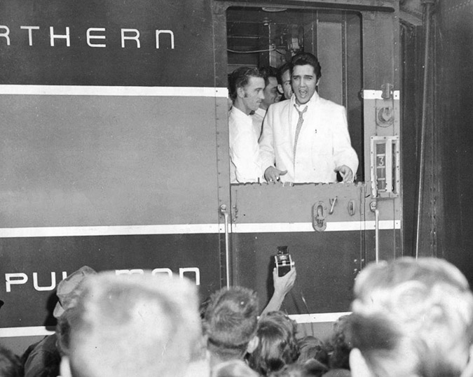 In 1957, at the end of August, Elvis and his entourage began their second of three tours that year, this one in the Pacific Northwest. Photo courtesy Daily Inter Lake